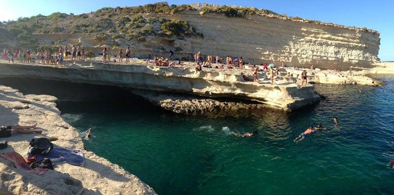 O que fazer em Malta: St Peters Pool